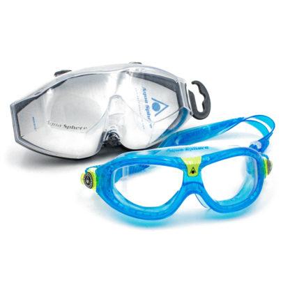 Schwimmbrille Blau/klar