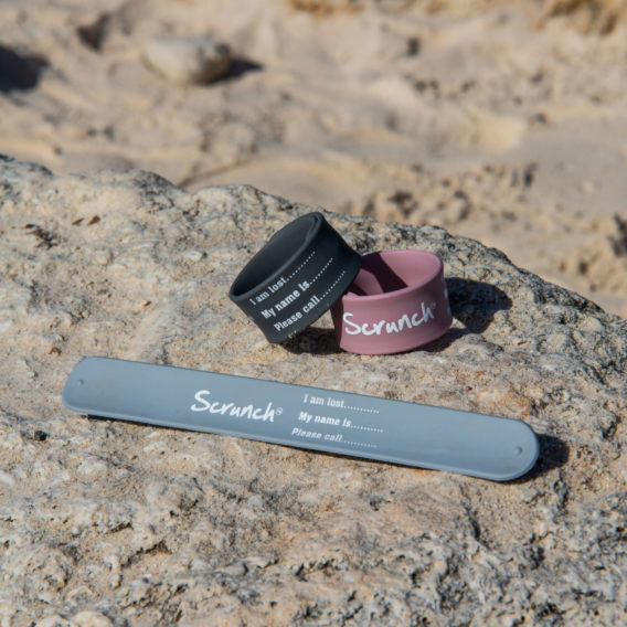 Scrunch Armband <br> rosa