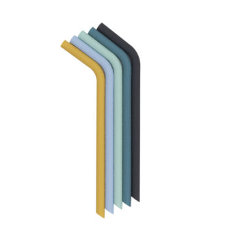 Strohhalme blau