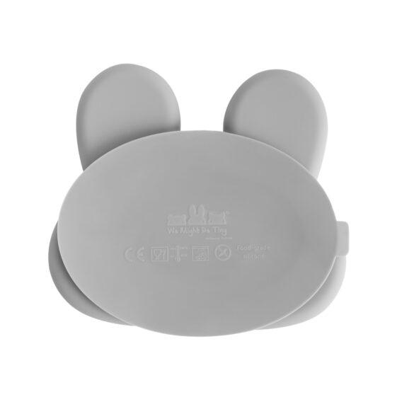 Bunny Stickie Plate grau